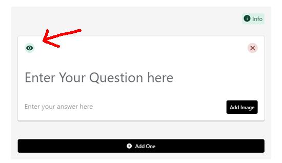Activar o desactivar el esquema de preguntas frecuentes en la interfaz