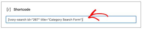 Agregar código corto de búsqueda de categoría