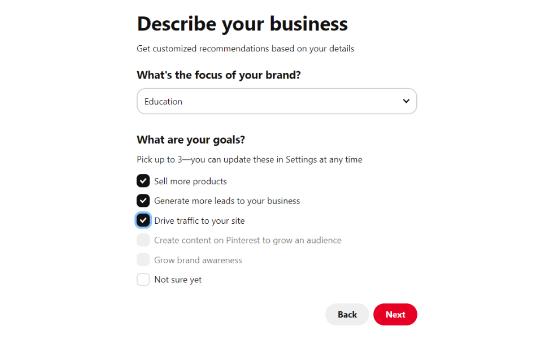 Describe tu negocio