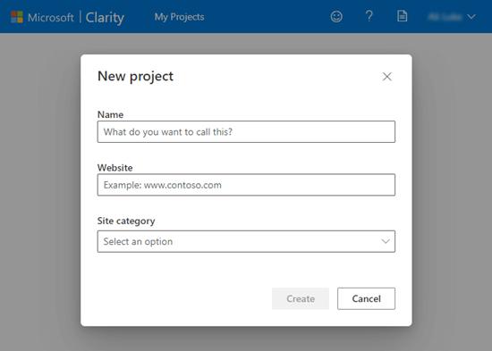 Configurar un nuevo proyecto en Microsoft Clarity