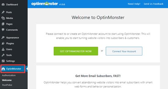 Conecte su cuenta de OptinMonster a su sitio de WordPress