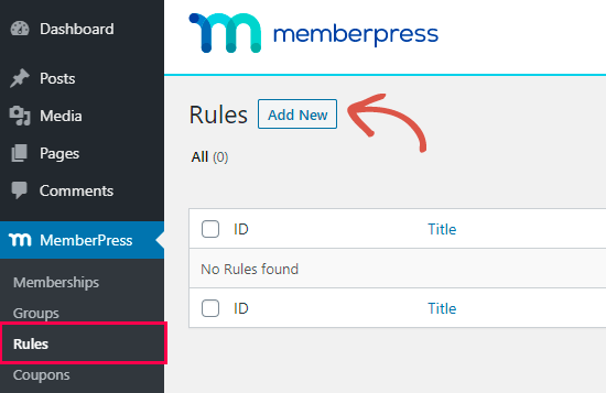 Creando una nueva regla