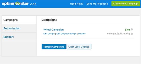 Campañas de OptinMonster en WordPress