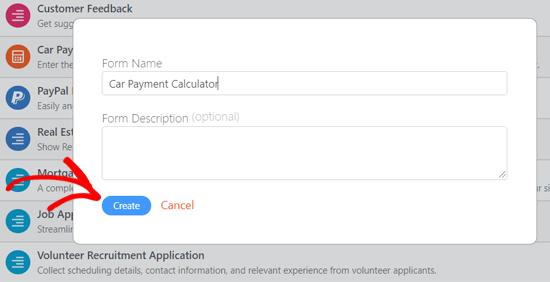 Nombrar y crear calculadora de pagos de automóviles en WordPress