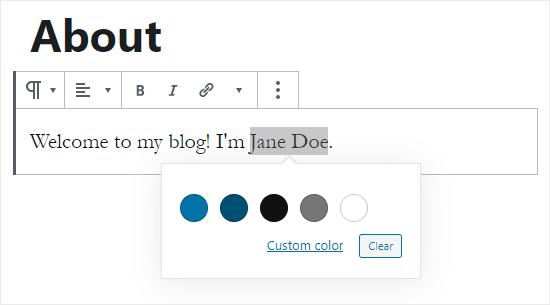 Elija el color del texto para las palabras resaltadas