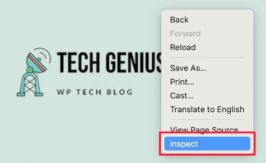 Inspeccionar con clic derecho