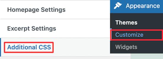 Seleccionar CSS adicional