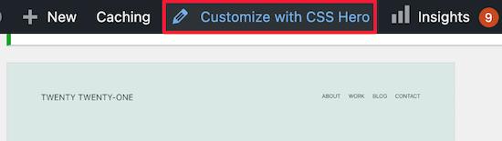 Personalizar con CSS Hero