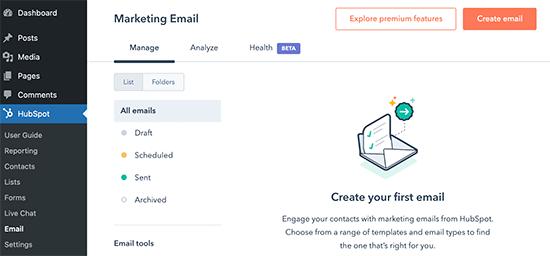 Envíe correos electrónicos de marketing