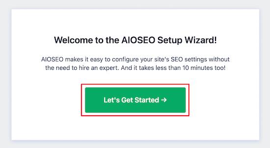Asistente de configuración de AIOSEO