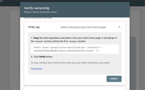 Método de etiqueta HTML