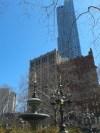 ฟ้าใส ถ่ายจากสวนสาธารณะบน Broadway