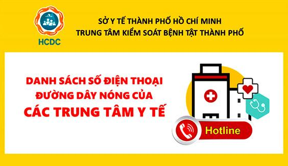dien thoai duong day nong cac trung tam y te tphcm