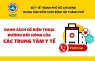 Danh sách số điện thoại nóng ngành y tế TP.HCM