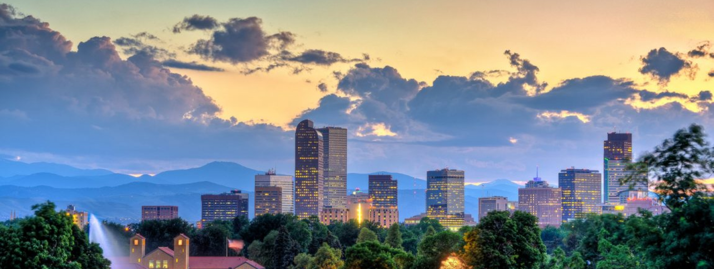 Best Denver sunset from City Park
