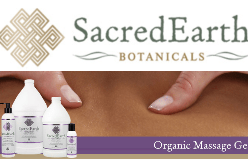 organic massage products by Sacred Earth.