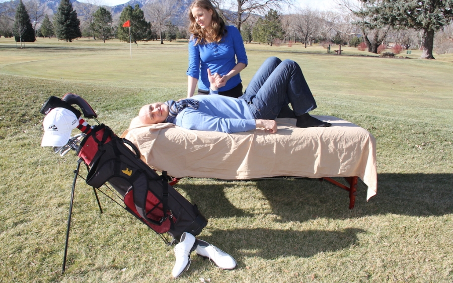 Manual Therapy and assisted stretching for golf in Denver, Massage for golf swing