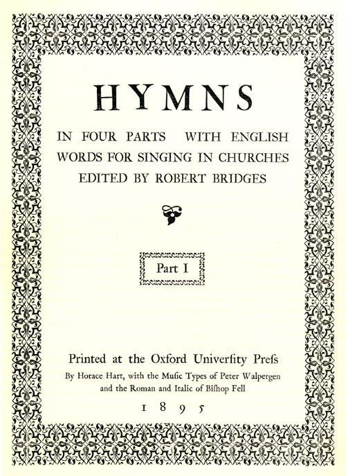 Hymns edited by Robert Bridges