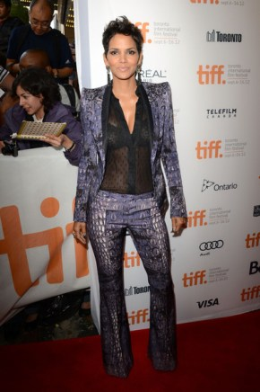 Halle Berry rocking it out in Roberto Cavalli