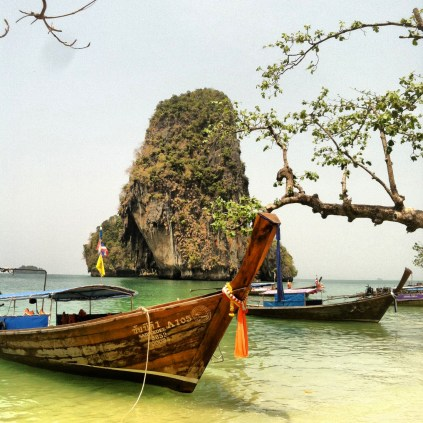 Phra Nang Beach. Looks like a postcard