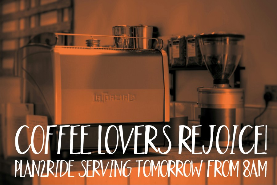 plan2ride coffee lovers rejoice poster