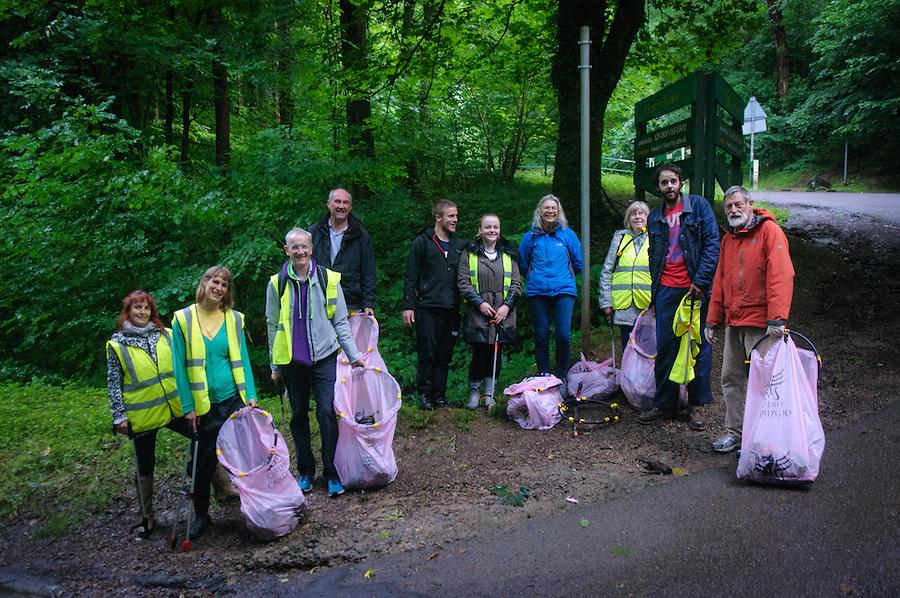 plan2ride hill climb challenge litter pickers