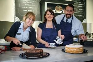 Cadw staff in Castell Coch tea room