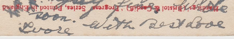 Crop of signature