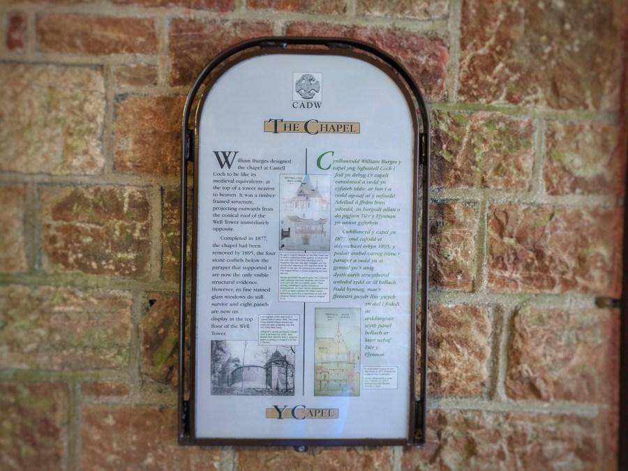 Information board at Castell Coch