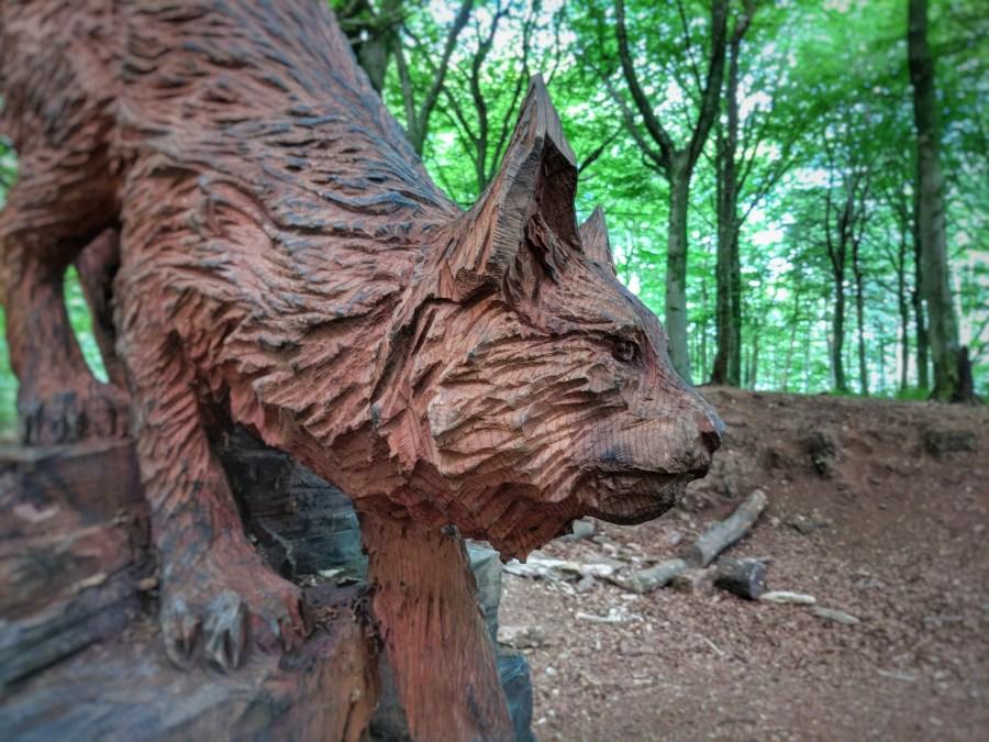 Sculpture in Fforest Fawr
