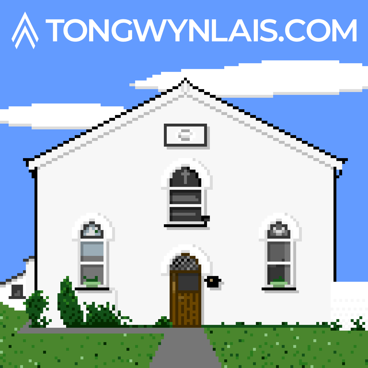 Pixel art illustration of Ainon Church