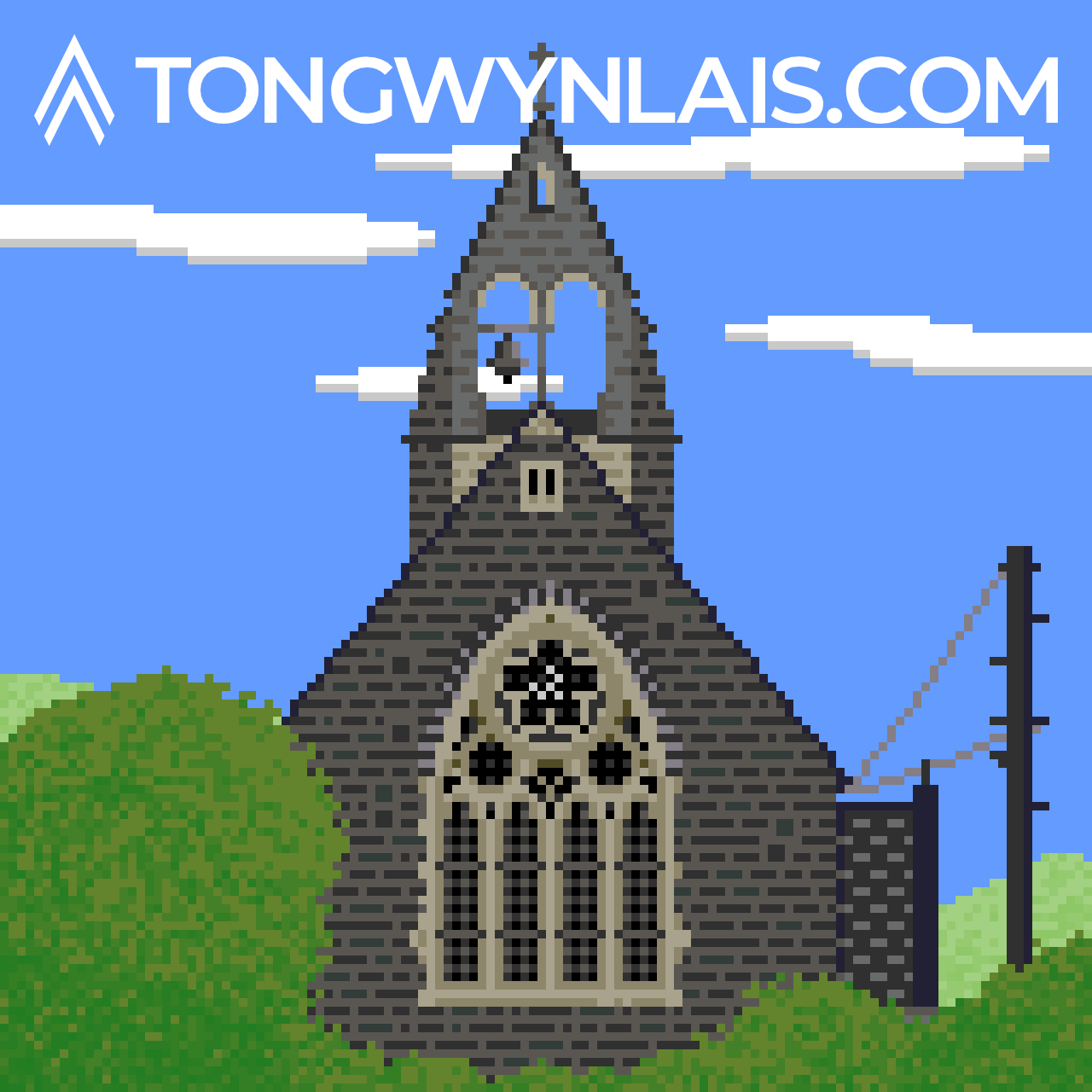 Pixel art illustration of St Michael's Church