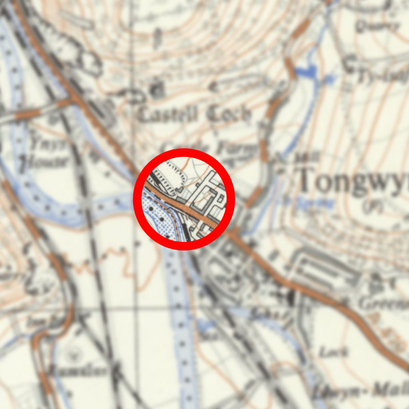 Map of Tongwynlais 1937-61