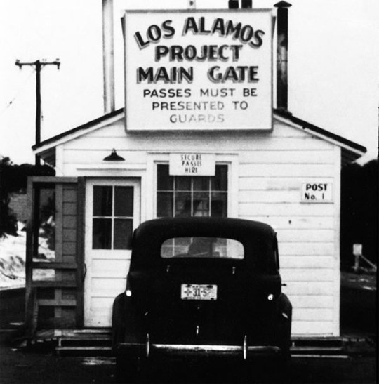 Main Gate at Los Alamos Laboratory