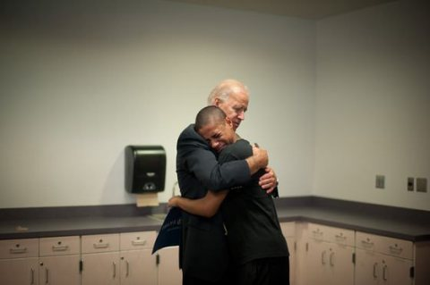 Vice President Biden with 15-year-old Kobe Groce, Nov. 2012