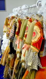 Colourful costumes provided by the Australian Ballet