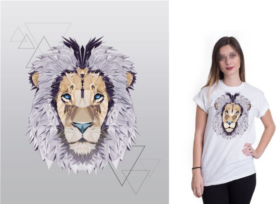 Vector Design | Crystal Lion