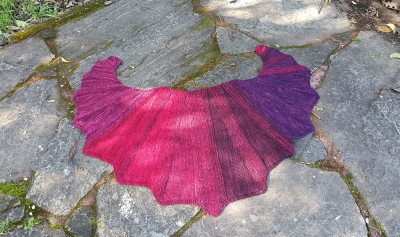 Vampyre Knitted Shawl