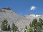The view from our picnic spot, as far as we would go up Avalanche Gulch, a little over 2 miles up at about 8100'.