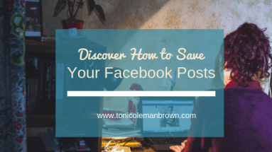 how to save facebook posts