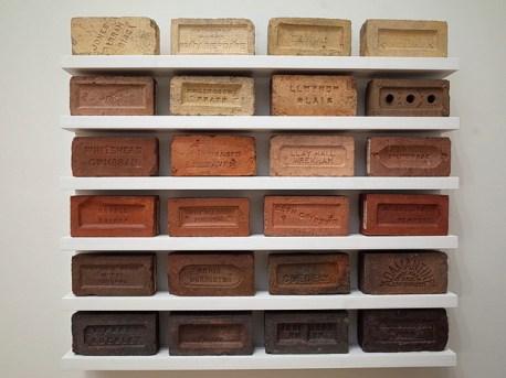 24 Bricks, Various 19th and 20th century Welsh Clay Bricks
