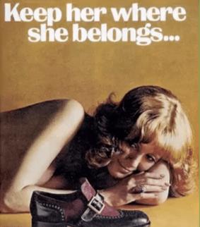 Weyenberg Massagic Shoe Advert, Playboy, 1974