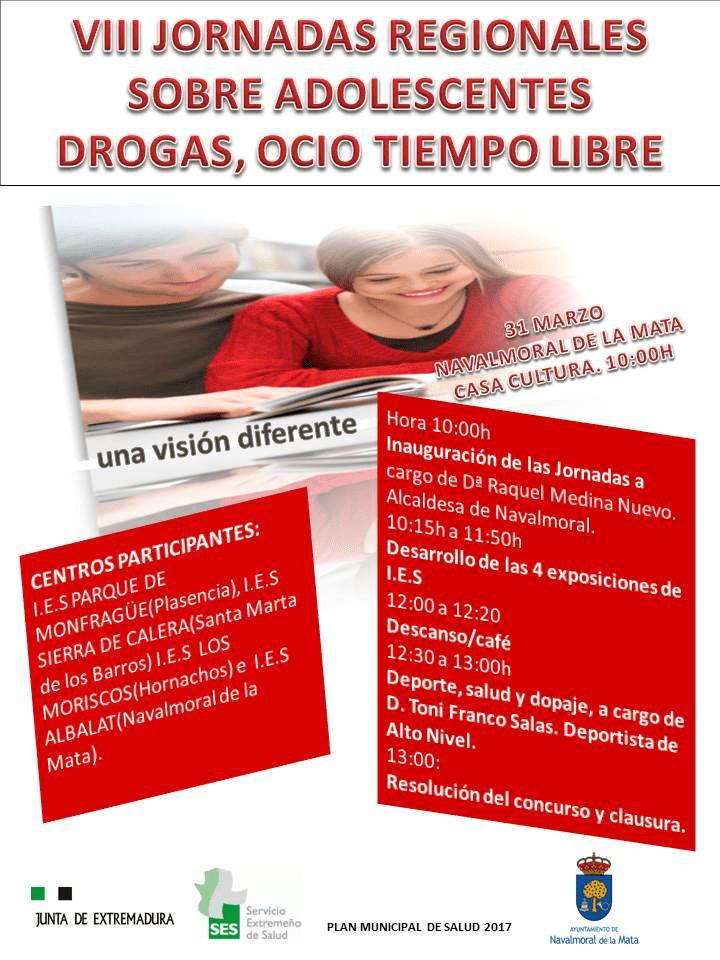 Toni Franco participará en las VIII Jornadas Regionales Sobre Adolescentes Drogas, Ocio Tiempo Libre