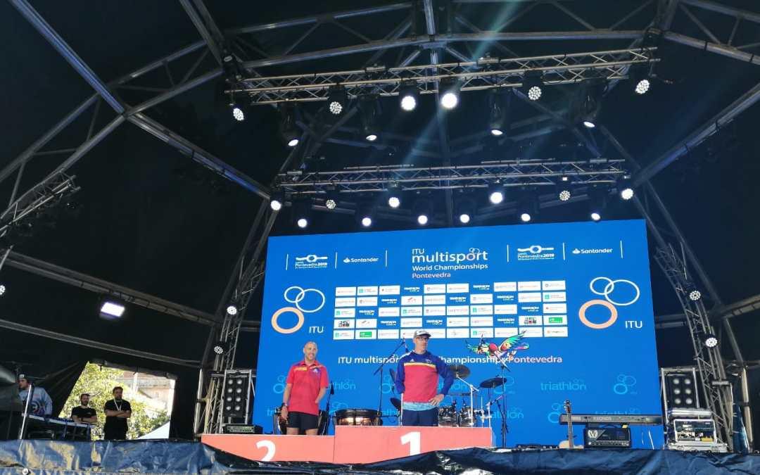 Toni Franco campeón del mundo de Triathlon de larga distancia 2019 en Pontevedra en PTS5