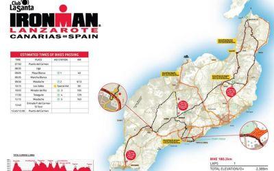 Un recorrido en bicicleta de 180.2 km para una carrera de leyenda, Ironman Lanzarote