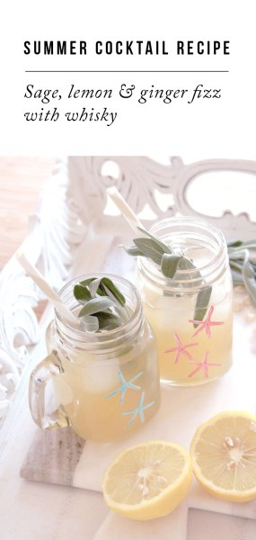 Summer Cocktail Recipe: Summer Sage and Ginger Fizz