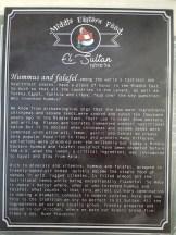Menu El Sultan, Puerto Escondido