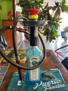 Home made hookah at El Sultan, Puerto Escondido