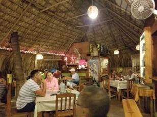 Inside restaurant El Mare