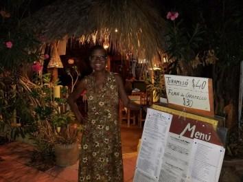 In front of restaurant El Mare.